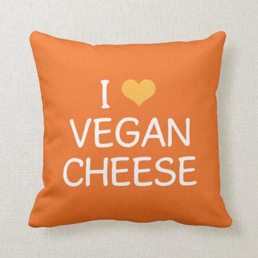Amo la almohada del queso del vegano