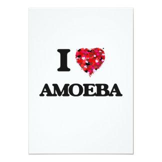 """Amo la ameba invitación 5"""" x 7"""""""