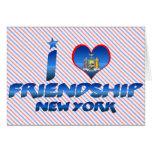 Amo la amistad, Nueva York Tarjetón