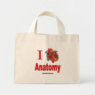 Amo la anatomía bolsa de tela pequeña