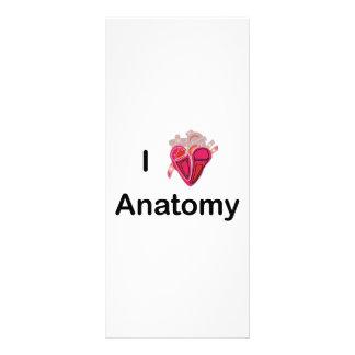 ¡Amo la anatomía con el corazón humano! Tarjetas Publicitarias A Todo Color