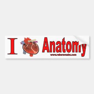 Amo la anatomía etiqueta de parachoque