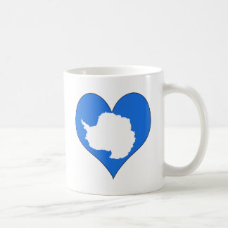 Amo la Antártida Taza De Café
