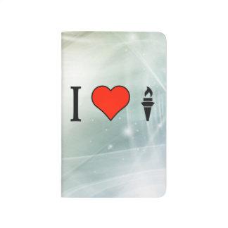 Amo la antorcha olímpica cuadernos grapados