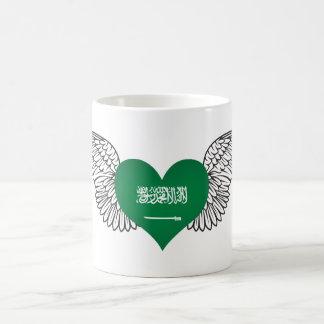 Amo la Arabia Saudita - alas Taza Básica Blanca