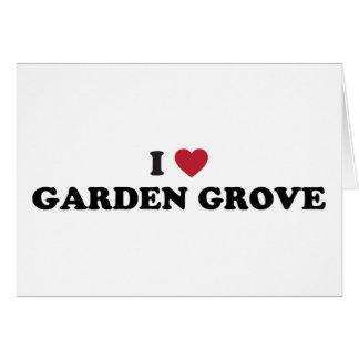 Amo la arboleda California del jardín Tarjeta De Felicitación