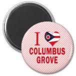 Amo la arboleda de Columbus, Ohio Imán Para Frigorífico