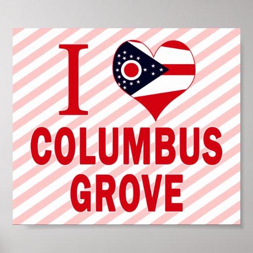 Amo la arboleda de Columbus, Ohio Impresiones