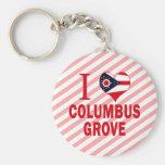 Amo la arboleda de Columbus, Ohio Llavero