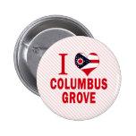 Amo la arboleda de Columbus, Ohio Pin