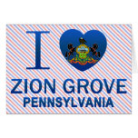 Amo la arboleda de Zion, PA Felicitación