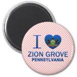Amo la arboleda de Zion, PA Imanes Para Frigoríficos