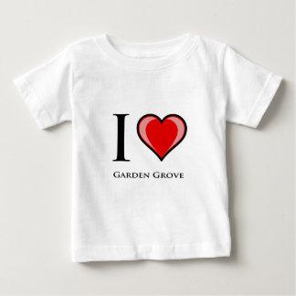 Amo la arboleda del jardín playera para bebé