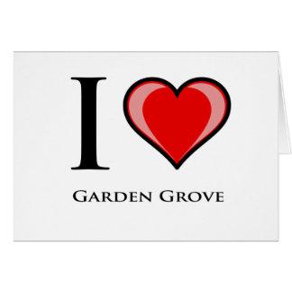 Amo la arboleda del jardín tarjeta de felicitación