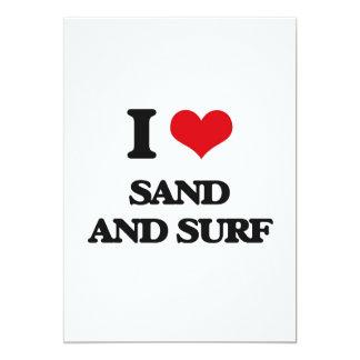 """Amo la arena y la resaca invitación 5"""" x 7"""""""