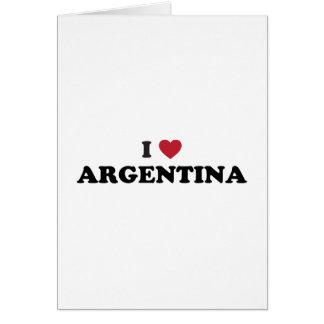 Amo la Argentina Tarjeta De Felicitación