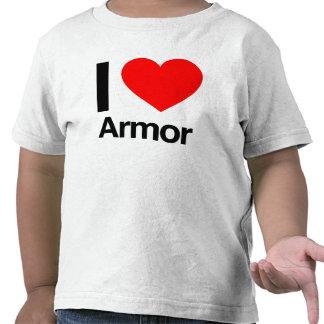 amo la armadura camiseta