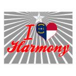 Amo la armonía, Carolina del Norte Tarjeta Postal