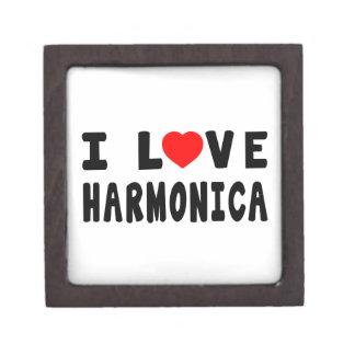 Amo la armónica caja de recuerdo de calidad