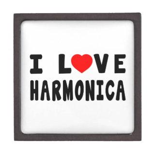 Amo la armónica cajas de joyas de calidad