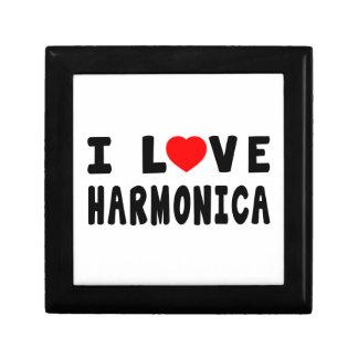 Amo la armónica cajas de regalo