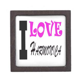 Amo la armónica caja de joyas de calidad