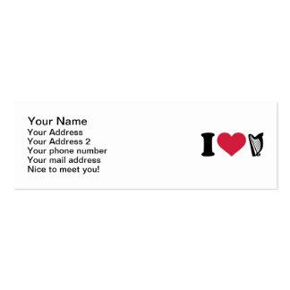 Amo la arpa plantillas de tarjetas de visita