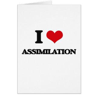 Amo la asimilación tarjeta de felicitación
