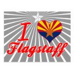 Amo la asta de bandera, Arizona Tarjeta Postal