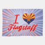 Amo la asta de bandera, Arizona Toalla De Cocina