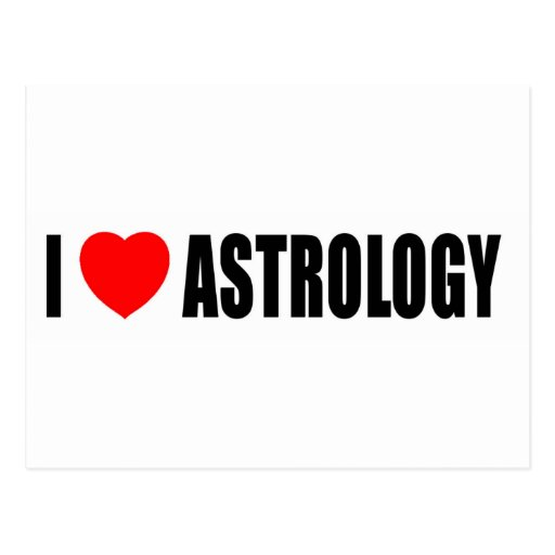 Amo la astrología tarjeta postal