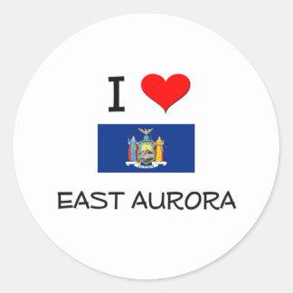Amo la aurora del este Nueva York Etiqueta Redonda