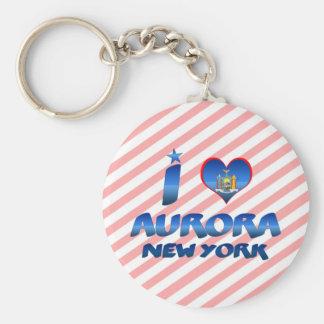 Amo la aurora, Nueva York Llaveros Personalizados