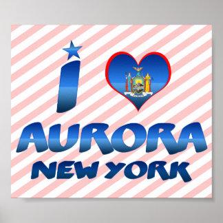 Amo la aurora, Nueva York Poster
