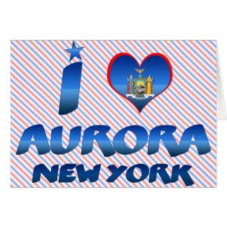 Amo la aurora, Nueva York Tarjetón