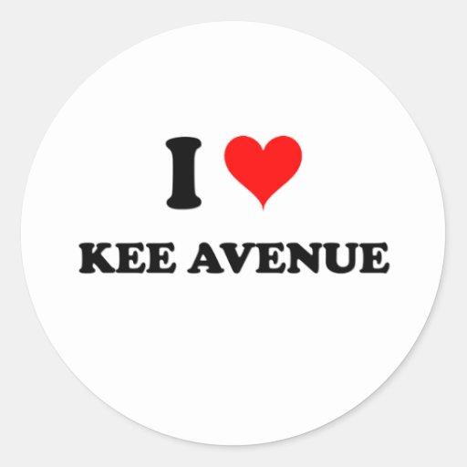 Amo la avenida Alabama de Kee Etiquetas