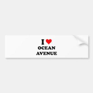 Amo la avenida Massachusetts del océano Pegatina Para Auto