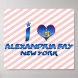 Amo la bahía de Alexandría, Nueva York Impresiones