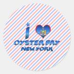 Amo la bahía de la ostra, Nueva York Etiqueta