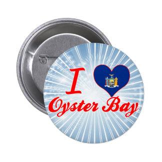 Amo la bahía de la ostra, Nueva York Pins