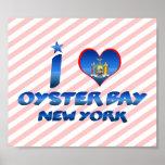 Amo la bahía de la ostra, Nueva York Poster