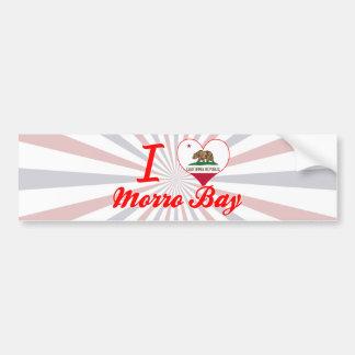 Amo la bahía de Morro, California Etiqueta De Parachoque