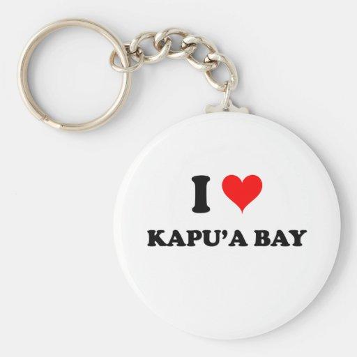 Amo la bahía Hawaii de Kapu'A Llavero Personalizado