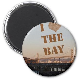 ¡Amo la bahía! Imán Redondo 5 Cm