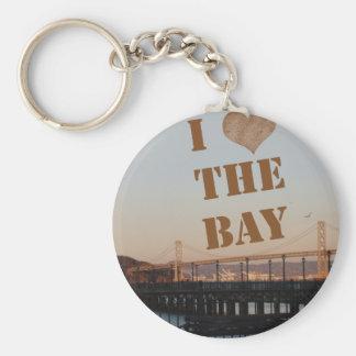 ¡Amo la bahía! Llavero