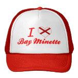 Amo la bahía Minette, Alabama Gorro