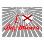 Amo la bahía Minette, Alabama Tarjetas Postales
