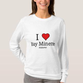 Amo la bahía Minette Playera