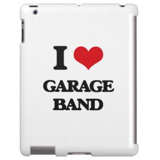 Amo la banda del garaje funda para iPad