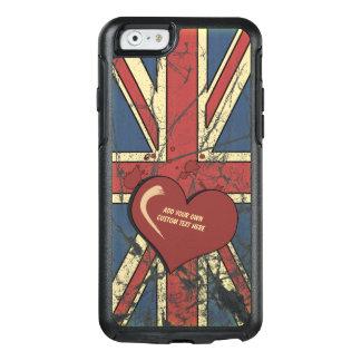 Amo la bandera apenada Gran Bretaña Funda Otterbox Para iPhone 6/6s